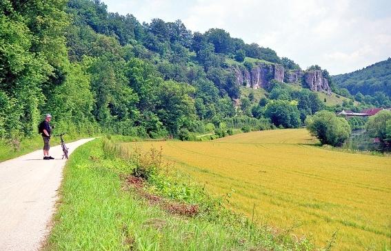 Landschaftsbild am Altmühlradweg