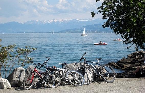 Aussicht vom Bodensee-Radweg